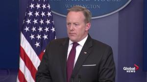 Sean Spicer gets into heated exchange with reporter on trans-gender bathrooms