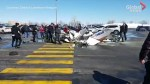 Onlookers left in shock after planes collide killing 1, injuring another