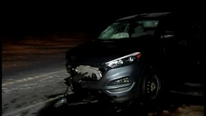 Snowmobiler dead after collision with SUV