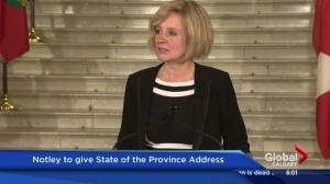 Rachel Notley to deliver State-of-the-Province address on Wednesday