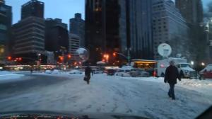 Driving through New York City streets