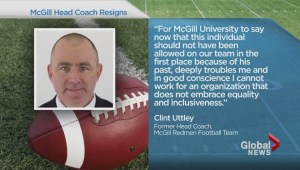 McGill football coach resigns