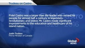 Trudeau's Castro eulogy backlash