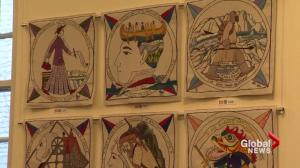 Scottish tapestry on display at Atwater Library