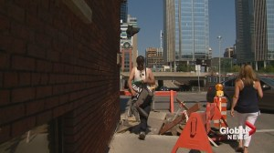 Pedestrians fed up with maneuvering around construction sites