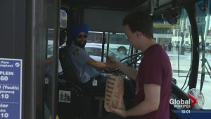 Bus riders show their appreciation for Transit workers
