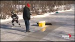 New Brunswick grandfather creates make-shift Zamboni for backyard ice rink