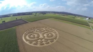 Mysterious crop circles appear on German farm