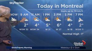 Global News Morning weather forecast: Monday, February 24