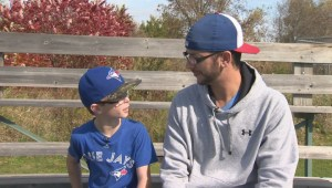 Global News sits down with 'Mini-Bautista' and his dad!