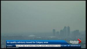 Air quality advisory issued for Calgary