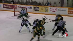 Saskatchewan Huskies lose championship opener to Alberta Golden Bears