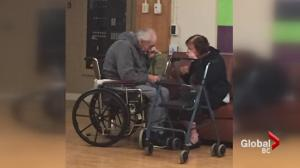 Distressed elderly couple housed in different care homes