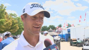 Canadian amateur Garrett Rank holding his own at 4-over at RBC Canadian Open