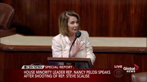 Nancy Pelosi pays tribute to colleagues injured in shooting on baseball field