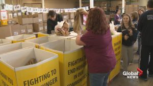 Food bank usage up due to oil patch slump
