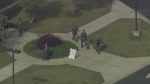 Aerials of North Carolina community college on lockdown after shooting
