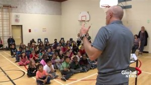 Olympic medalists deliver message of sportsmanship to Calgary kids