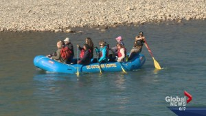 Delegates float down Calgary's Bow River during forum on flood resiliency