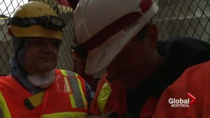 Coderre explores sewage pipe