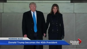 Trump celebrates at pre-inauguration dinner and concert