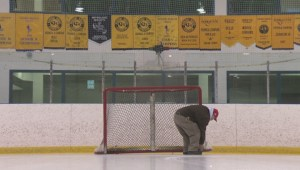 Stonewall arena paints 'look-up line' to help prevent injuries