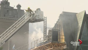 Firefighters battle four-alarm fire at Quebec city museum