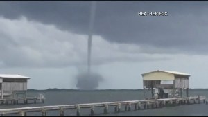 Twin waterspouts caught on camera off coast of Florida