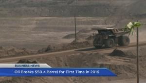 BIV: Oil prices rise above $50 per barrel