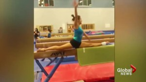 St. Albert gymnast Marisa Dick busts out new gymnastics move: The Dick Move