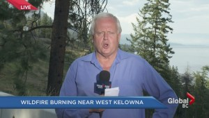 Wildfire burning near West Kelowna