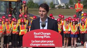 Trudeau announces plan to invest in infrastructure
