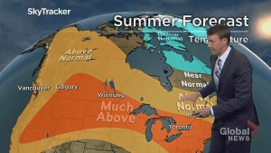 Summer forecast points to above average temperatures across Canada