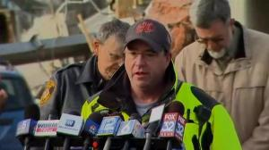 Teams investigating properties damaged by Illinois tornadoes; propane tanks of primary concern