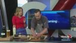 Chef Dave Phillips prepares smoked brisket sliders