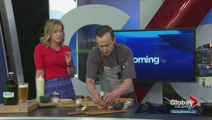 Chef Dave Phillips prepares smoked brisket sliders