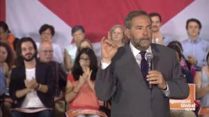 Tom Mulcair says NDP childcare promise is about delivering what Liberals, Conservatives could not
