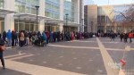 People line up in the cold to get tickets to Obama's last speech as president