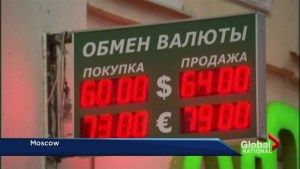 The Russian Ruble's freefall