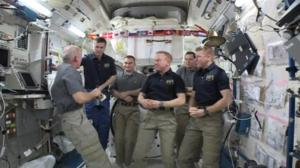 Change of Command ceremony held aboard ISS as Jeff Williams takes command