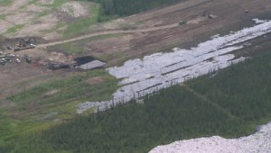 RAW: Aerial footage shows extent of Nexen oil spill near Fort McMurray