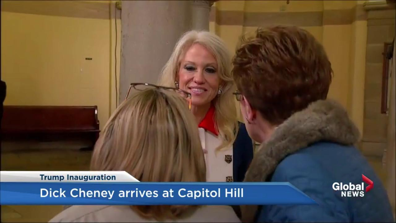Everyone Is Making Fun Of Kellyanne Conway's 'Patriotic' Inauguration Day Outfit