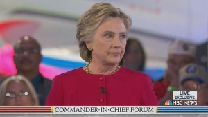 Hillary Clinton acknowledges mistakes with her emails and voting on the Iraq war during Commander-in-Chief forum