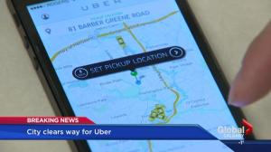 Calgary allows Uber to operate in the city