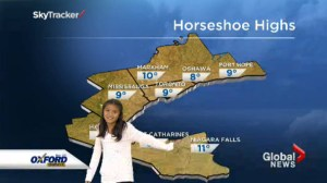Global Toronto's Junior Meteorologist contest winner Jessie, makes her big TV debut.