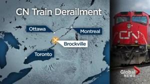 CN train derails in Ontario