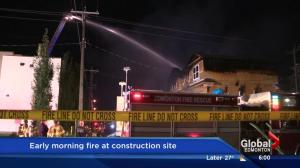 Fire damages west Edmonton townhomes under construction