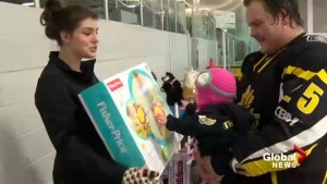 Strathmore hockey team holds toy drive for Ronald McDonald House