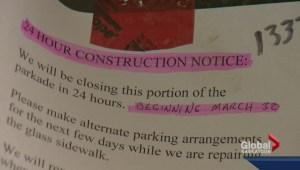 Surprise construction shocks store owner