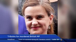 Tributes for murdered British MP